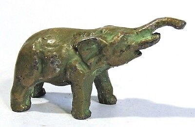 VINTAGE SRG ELEPHANT MINIATURE BRONZED METAL FIGURINE 1950's SELL RITE GIFTS
