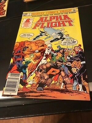Alpha Flight 1 FIRST ISSUE 1983 Very Fine to Near Mint NICE