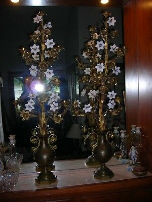 """Final Sale!majestic Pair Huge Antique 19Th C Gilded Bronze Candelabras 50"""" Tall"""