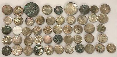 Lot Of 25 Old Stock Mother Of Pearl – Abalone Shell Cutouts (#6)