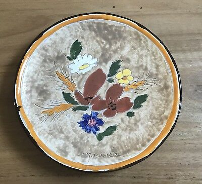 JEROME MASSIER Vallauris Ceramic Plate 17 cm Good Cond. Hand Painted & Signed.