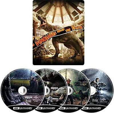 Jurassic Park 4 Movie ・ Collection Steel Book ・ 4 K ULTRA HD [Blu-ray]