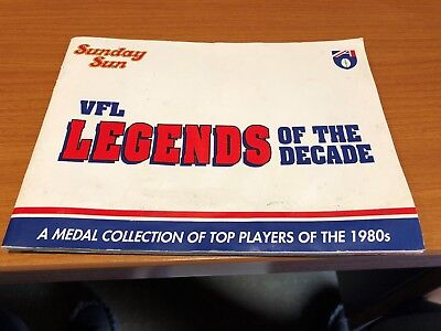 Vfl Legends Of The Decade Medal Collection Full Set Of 12 With Booklet.