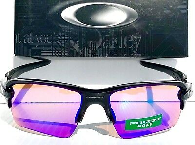 2c27a42750b NEW Oakley FLAK JACKET 2.0 Black w PRIZM GOLF Lens Sunglass oo9188-05