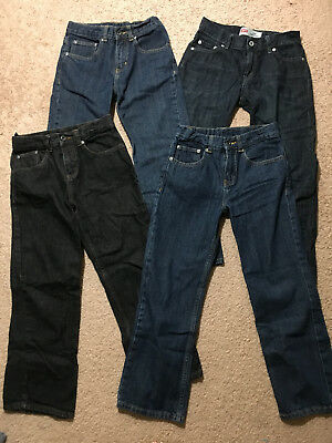 Lot of 6 Boys Jeans Size 10 Medium M Med Pants LOOKS NEW Excellent Condition