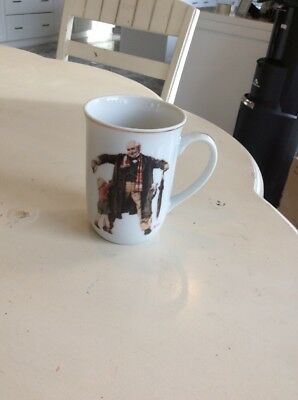 Norman Rockwell Collector Mugs 1936 Vintage Sat Evening Post