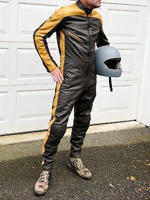 Vintage Xenia Leather Motorcycle Suit, Racing Leathers