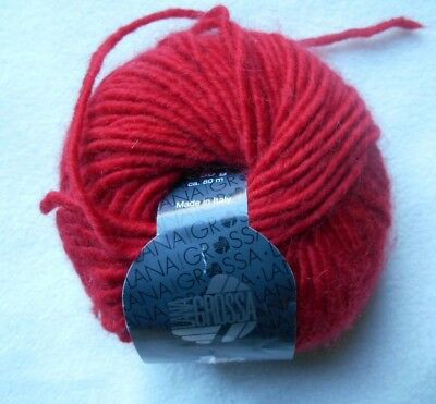 Lana Grossa Eco wool blend  color #5 red