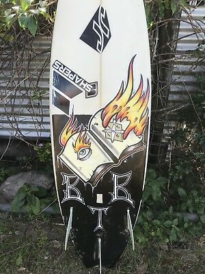 JR Surfboard With Louis Gervais Original Artwork Shaped For Louis