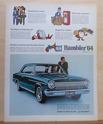 1964 magazine ad for Rambler - American 440-H hardtop, Insist on More in '64
