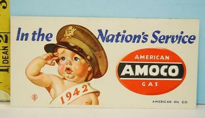 1942 AMOCO American Gas In The Nations Service Blotter Baby in Army Air Force Cp