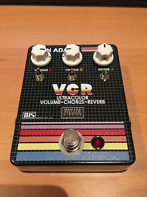 JHS Ryan Adams VCR Reverb Chorus and volume boost guitar effect pedal LIKE NEW!
