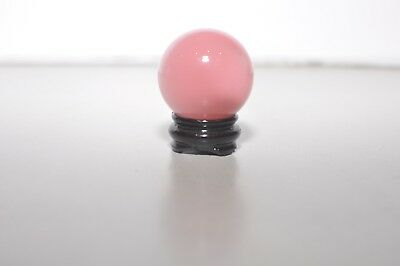Pink Gemstone Crystal Sphere Ball with Holder BRAND NEW