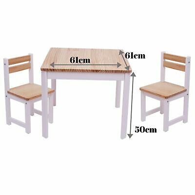 TikkTokk Children's ENVY Kids Toddler Wooden Table & 2 Chairs Set SQUARE WHITE
