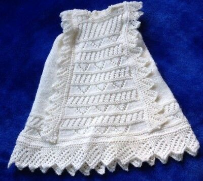 Newborn Baby ( Or Doll ) Hand knitted Dress