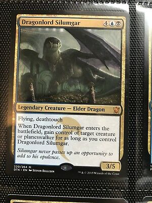 1x DRAGONLORD SILUMGAR Rare - Dragons of Tarkir - MTG - NM - Magic the Gathering