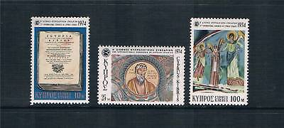 Cyprus 1974 Congress of Cypriot Study SG 426/8 MNH