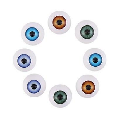 Decora 20Mm Half Round Acrylic Doll Bear Craft Plastic Eyes Eyeball For Hallo Ne