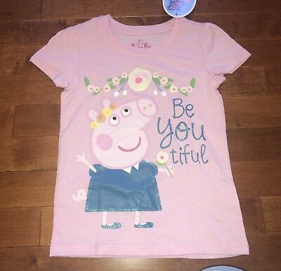 Peppa Pig Pink Toddler Girl Shirt Top New 4T