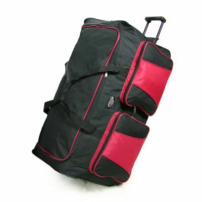 "XL 34"" Travel Luggage Wheeled Trolley Holdall Suitcase Duffel Cargo Bag 154L RD"