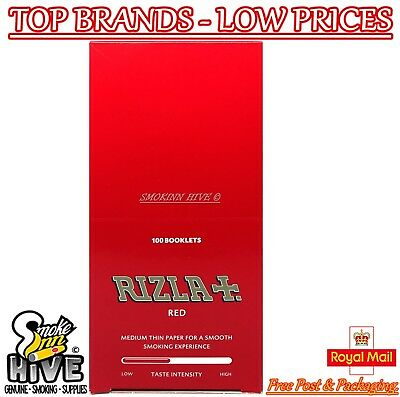 Rizla Tobbaco Red Regular Size Cigarette Rolling Papers 100 Packets Full Box