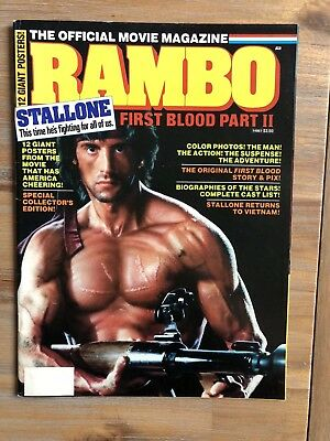 """Rambo - First Blood Part 2 """"The Official Movie Magazine"""" Top*Zustand"""