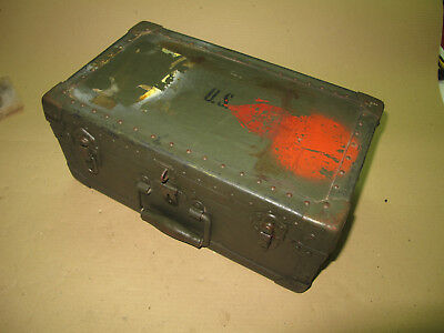WWII U.S. Army Barber Kit Case M-1944 Wooden Case Crate BOX Lunch
