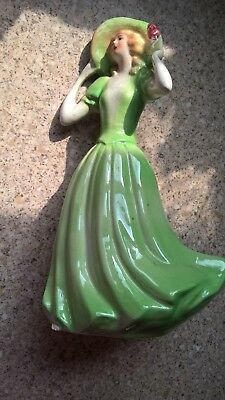 "Vintage graceful pretty lady figure approx 8¼"" tall. (small chip on skirt base)."