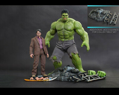 The Avengers Hulk and Bruce Banner 1:6 Scale Figure MMS230 Hot Toys Marvel NEW
