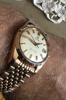 OMEGA SEAMASTER VINTAGE AUTOMATIC, Rosegold  Rotgold-Haube CAL 562 schön! selten