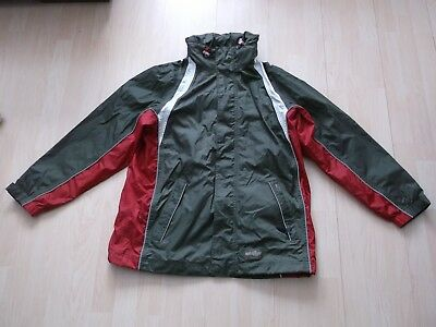 OUTDOORJACKE REGENJACKE Gr.M,oliv-rot,Weather Gear TCM,kaum getragen,sehr gut!