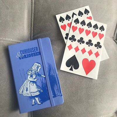 Moleskin LIMITED Edition Alice's Adventures in Wonderland, Unlined Notebook NWT