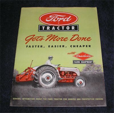 """Original Ford 8N Tractor """"Gets More Done"""" sales brochure 1948"""