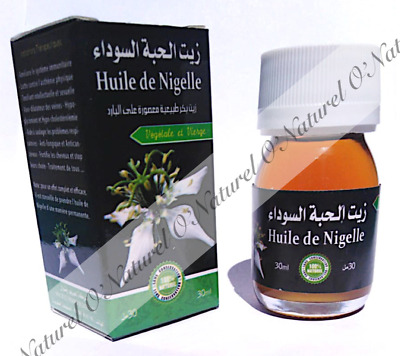 Huile de Nigelle 100% Pure & Naturelle 30ml Black Cumin Seed Oil
