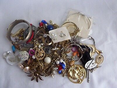 Mixed Lot of Vintage Modern Costume Jewelry Repurpose Craft