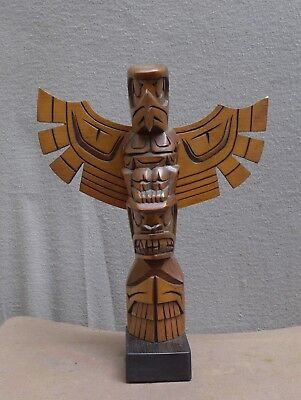 Very nice North West carving of a totem pole by Jack Stogan