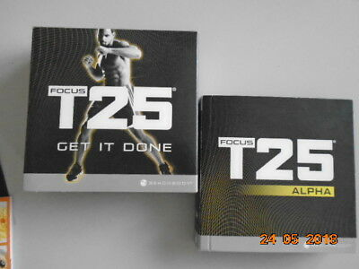SHAUN T Focus T25 Get it Done/Alpha/Beta/Workout Excellent Con with box.