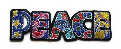 New Peace Sign Hippie Boho Retro Love Logo Embroidered Iron On Patch Shirt Po776