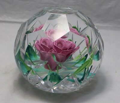 Vintage caithness glass paperweight, Diamond Jubilee Magnum 42/60