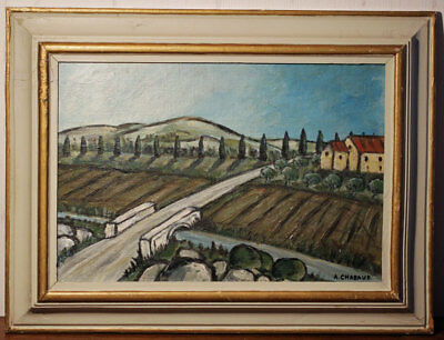 Provance Landscape.  Sign. A. Chabaud