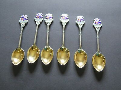 Cambridge University, St Johns College spoons in Silver with Gilt Bowls, c 1930
