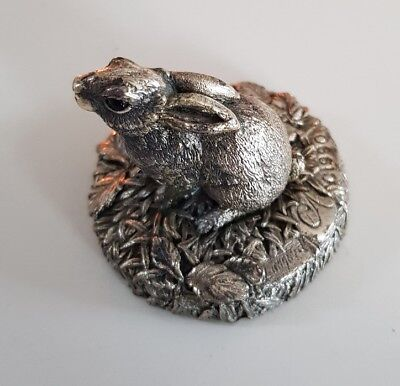 country artists sterling silver small rabbit