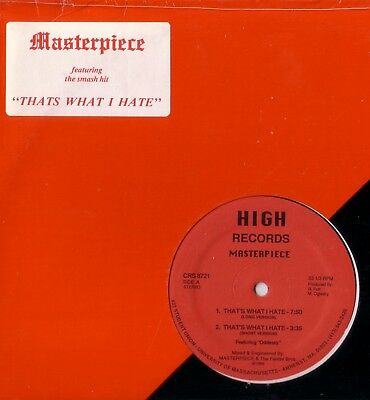 """12"""" Oldschool Electro - Masterpiece - That's What I Hate & Draws (High 1986)"""