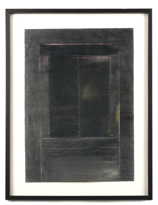 "Anne Madden Original Mixed Media Drawing ""Doorway"" 1984"