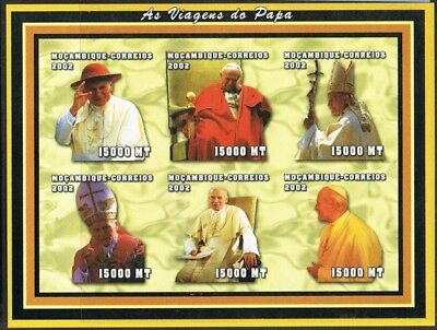 Mozambique 2002. Famous People. Religion. Pope. Imperf. MNH.