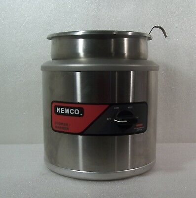 Nemco 6102A Round Cooker Warmer Soup Steamer Complete w/ Inset, Cover & Ladle