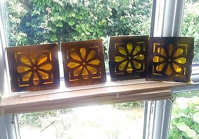 Stained Glass 4 Traditional vintage design hand painted kiln fired fragments