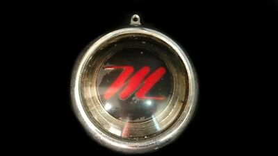 "NASH METROPOLITAN ""M"" Script Grille Medallion Emblem Badge Center"