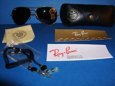 ee80a549b5 Ray Ban Aviator 1994 96 Olympic Games Sunglasses B l G-15 Lens Made In