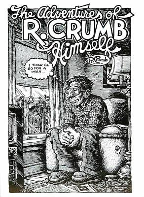 R. Crumb The Adventures of R. Crumb Himself - Large Postcard
